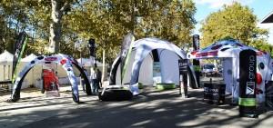 tente gonflable Marathon de Montpellier par Vision One